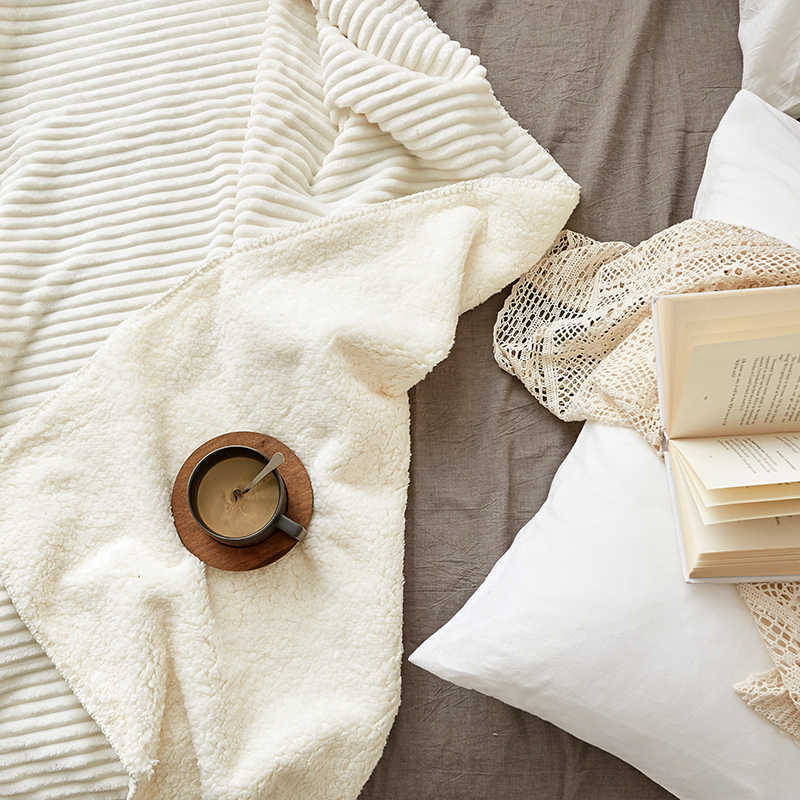 Фланелевое Одеяло из овечьей кожи, однотонное одеяло, супер мягкое флисовое Фланелевое покрывало для кровати, модное постельное белье для взрослых