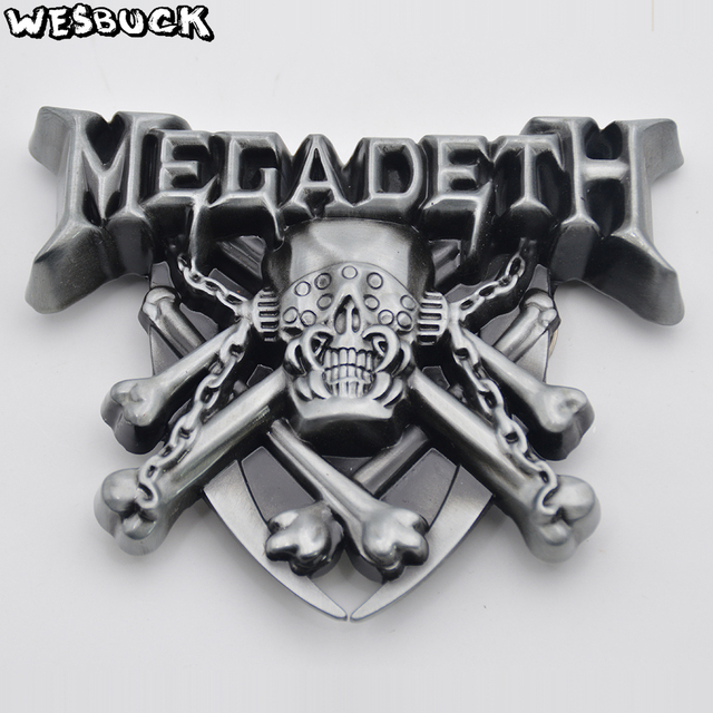 WesBuck Brand 3D Megadeth Band Rock Music Belt Buckle With PU Belt