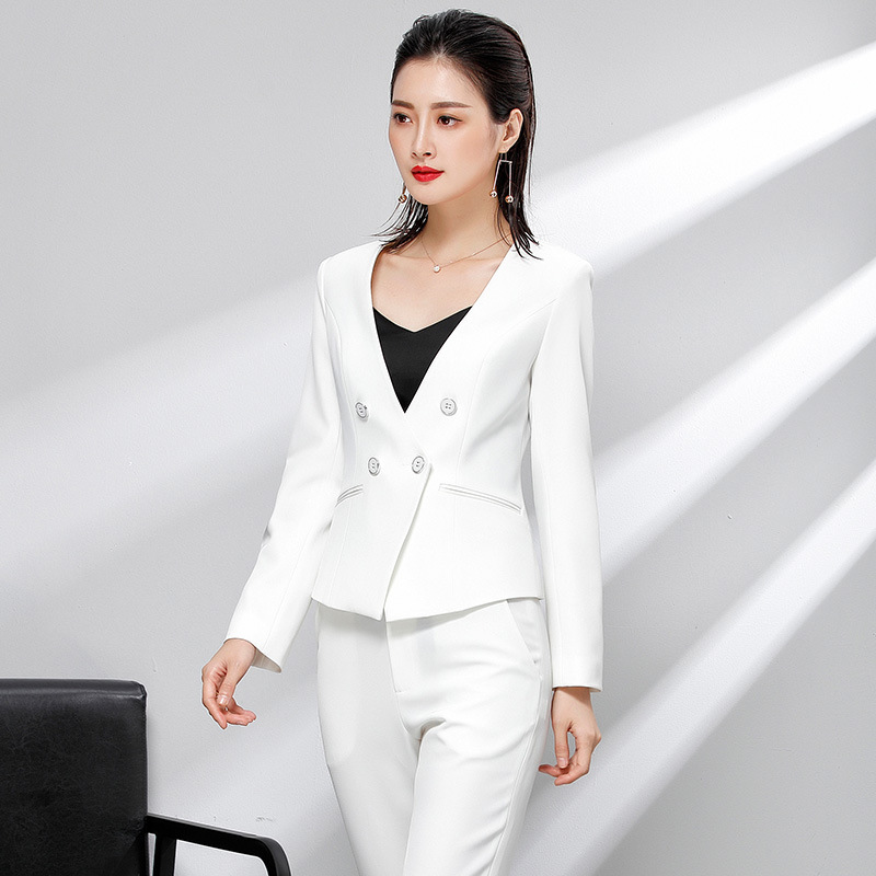 small suits professional womens suits hotel front desk work clothes,OL office workers temperament work clothe self-cultivation