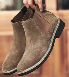 2019 shoes man Spring New Fashion Casual Men Ankle Chelsea Boots Male Shoes  Cow Suede Leather Slip Ons Motorcycle Man Boot CS213