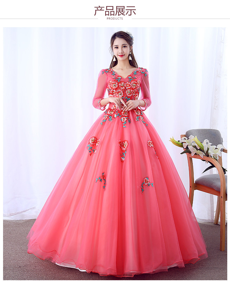 100 Real Watermelon Red Cosplay Display Ball Gown Medieval Dress Renaissance Gown Queen Victorian Belle Ball Gown Renaissance Gown Dress Renaissancemedieval Dress Aliexpress