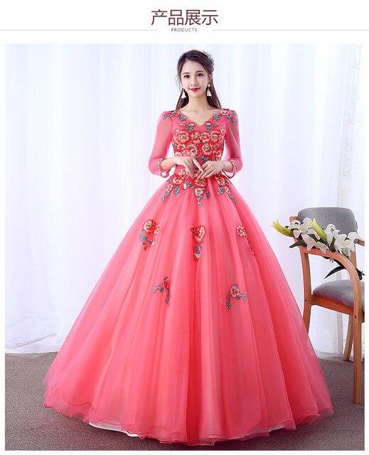 7e2105c7731 100% настоящий арбуз красный косплей дисплей бальный наряд средневековой  платье эпохи Возрождения платье королевы викторианской