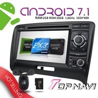 Dvd плееры 7 ''Android 7.1 для Audi TT 2006 2011 topnavi авто Bluetooth с поддержкой GPS навигации ПК ОЗУ 2 г Wi Fi 3G Радио