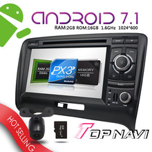 """Car DVD Players 7"""" Android 7.1 for Audi TT 2006-2011 WANUSUAL  Auto Bluetooth-enabled GPS Navigation PC Ram 2G Wifi 3G Radio"""