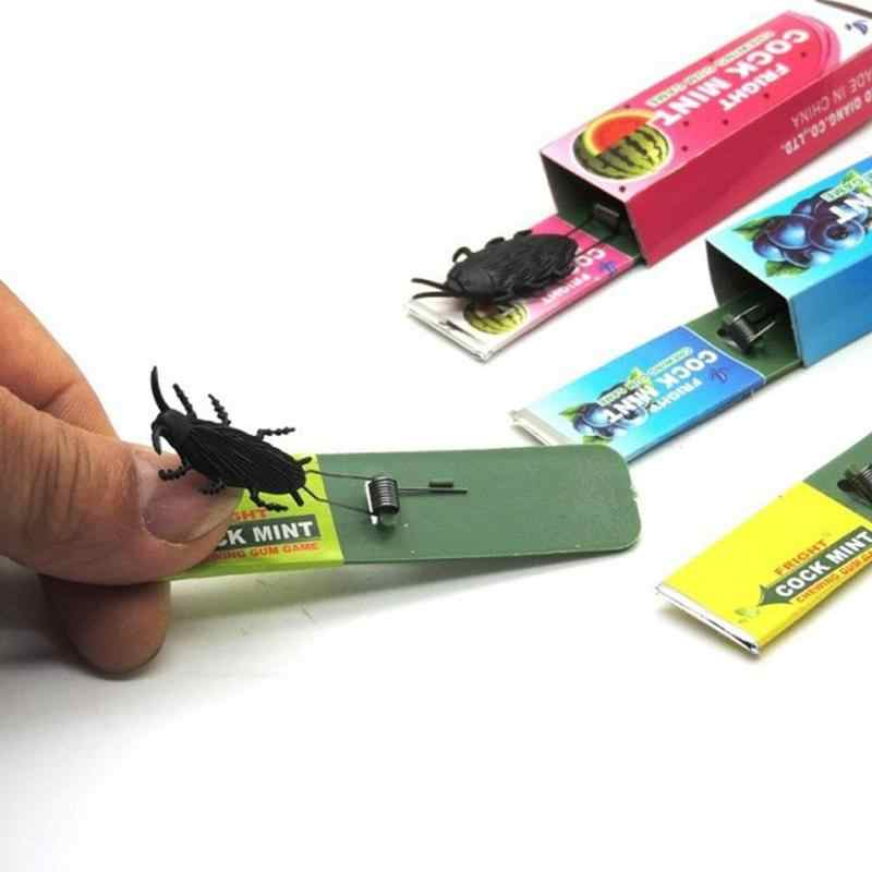 1pcs Trick Chewing Gum Funny Big Safety Nove Cockroach Chewing Gum Whimsy Toy Spoof Joke Surprised Trick Toys Shocking Gifts