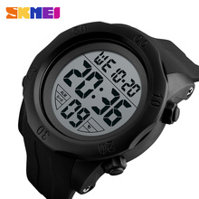 SKMEI Fashion Sport Watch Men 5Bar Waterproof Watches Alarm Clock Chrono PU Strap Digital Watch Relogio Masculino 1305