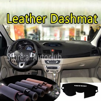 For Renault Fluence Megane III 2008-2009 2010 2011 2012 2013 2016Leather Dashmat Dashboard Cover Prevent Sunlight Pads Dash Mat