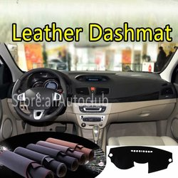 Voor Renault Fluence Megane III 2008-2009 2010 2011 2012 2013 2016 Lederen Dashmat Dashboard Cover Voorkomen Zonlicht Pads dash Mat