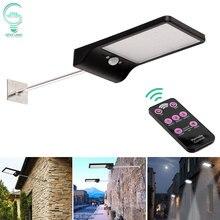 Adjustable Solar Light 48 LED PIR Motion Sensor Solar Lamp Three Modes Remote Control Outdoor Garden Street Yard Wall Light