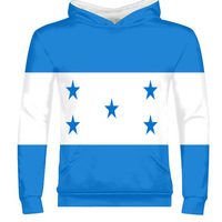 HONDURAS male youth custom made name number zipper sweatshirt nation flags country print photo honduran spanish boy clothes