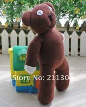 "Free Shipping 9"" tall Mr Bean Teddy Bear Animal Stuffed Plush Toy, Brown Figure Doll Child Christmas Gift Toys Wholesale(small)"