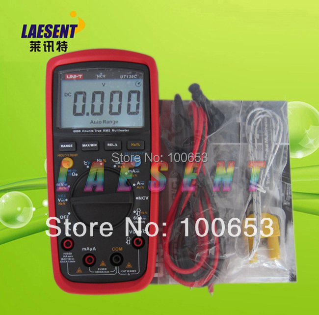 UNI-T UT139C True RMS LCD Display Electrical Digital Multimeters Handheld Tester Multimetro Ammeter Multitester LCR Meter striped rib insert button up denim jacket