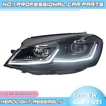 for VW GOLF 7 MK7 Upgrade to MK7.5 Design Golf 7.5 Headlights LED Headlight DRL Bi-Xenon Lens Double U Car Styling Head Lamp цена
