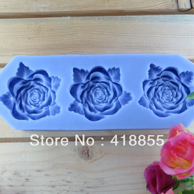 Hot Selling Free Shipping Chocolate Mould Rose Chocolate Manufacture Mold flower  fondant  cake  decoration  mold (si059)