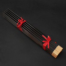 Mother's Day Gift  10 Pairs Qualty Chopsticks  Gold Ebony Chopsticks Same Plate Process with Swiss Watch Noble