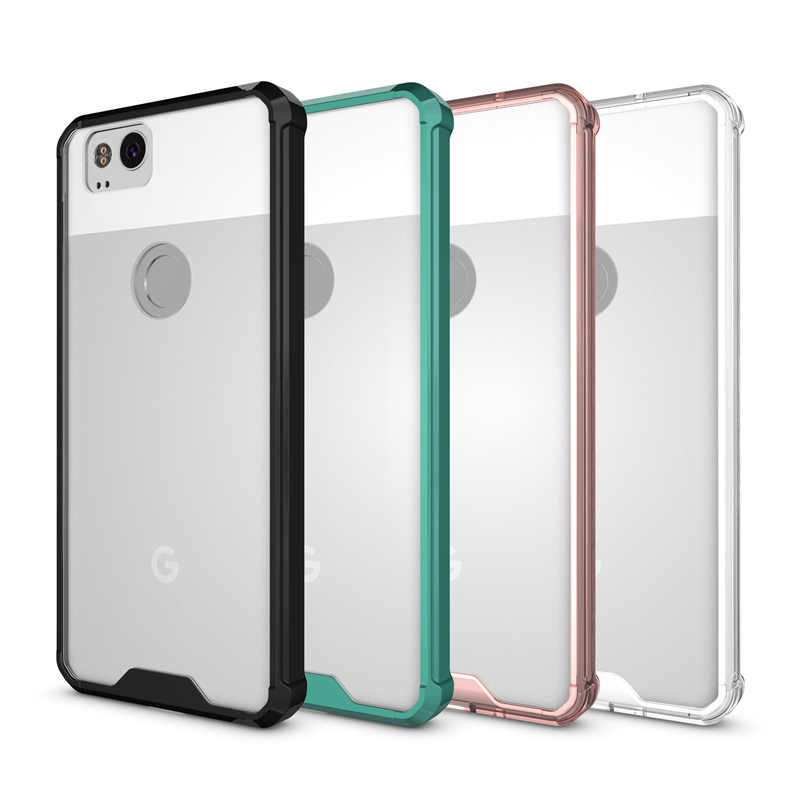 info for 2f1f8 2bfd5 Hot Hybrid Shockproof Cover Air Cushion Frame Case With Acrylic Crystal  Clear Back Shell For Google Pixel 2 / Google Pixel 2 XL