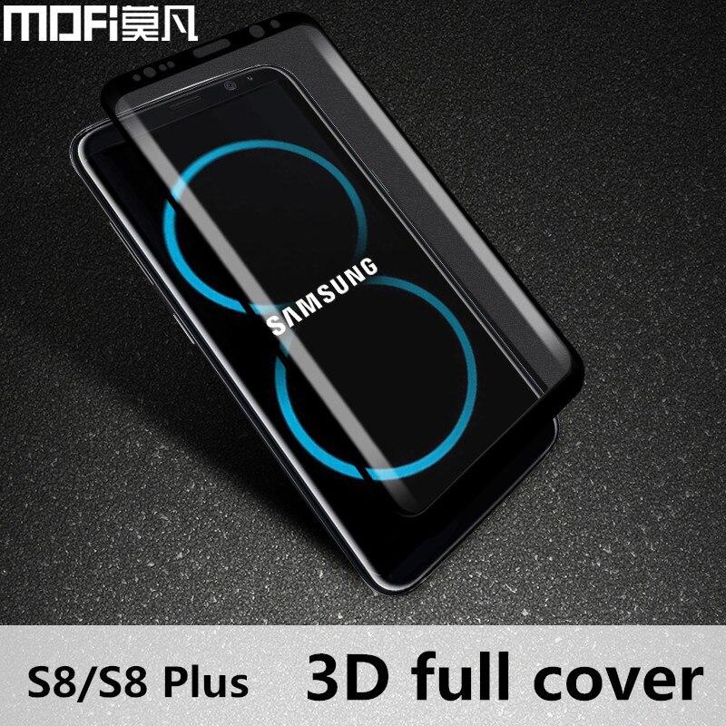 imágenes para Para Samsung Galaxy S8 vidrio templado protector de pantalla de la cubierta completa 3D para Samsung vidrio templado vidrio plus galaxy s8 S8 + MOFi