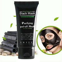 50ml Black Mask Facial Mask Nose Blackhead Remover Peeling Peel Off Black Head Acne Treatments Face Care Suction