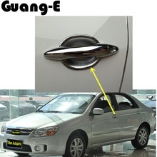 High Quality car styling moulding panel lamp Stick body frame body ABS chrome hooding cover handle bowl for Kia Cerato