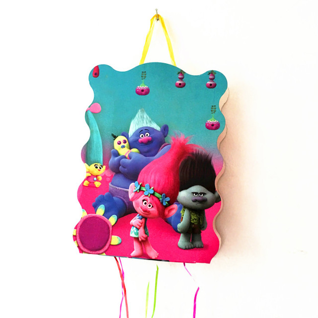 1SET TROLLS THEME PINATA BABY SHOWER KIDS BIRTHDAY PARTY DECORATION FUNNY GAME