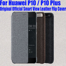 Case For HUAWEI P10 Plus Original Official Smart View Call ID Leather