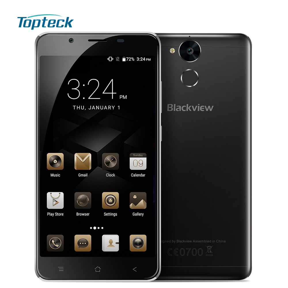 "Цена за Blackview p2 lite 6000 мАч otg отпечатков пальцев 4 г смартфон 5.5 ""1080*1920 android 7.0 mtk6753 octa ядро 3 ГБ + 32 ГБ 13mp мобильный телефон"