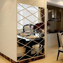 Modern Fashion DIY 3D Stickers Mirror Sticker Home Livingroom Decoration Alloy Acrylic Luxury