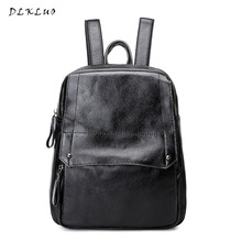 Genuine Leather Women Backpack vogue leisure  Girls Travel Bags  Hot sale High Quality Preppy Style Teenage Girls Ladies Bags