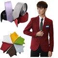 5 CM Delgado Corbatas Lazo Para Hombre de Pañuelos de Bolsillo Pañuelo Lazos Para Los Hombres Gravata Moda Del Color Del Caramelo Accesorios de Esmoquin GTALJb