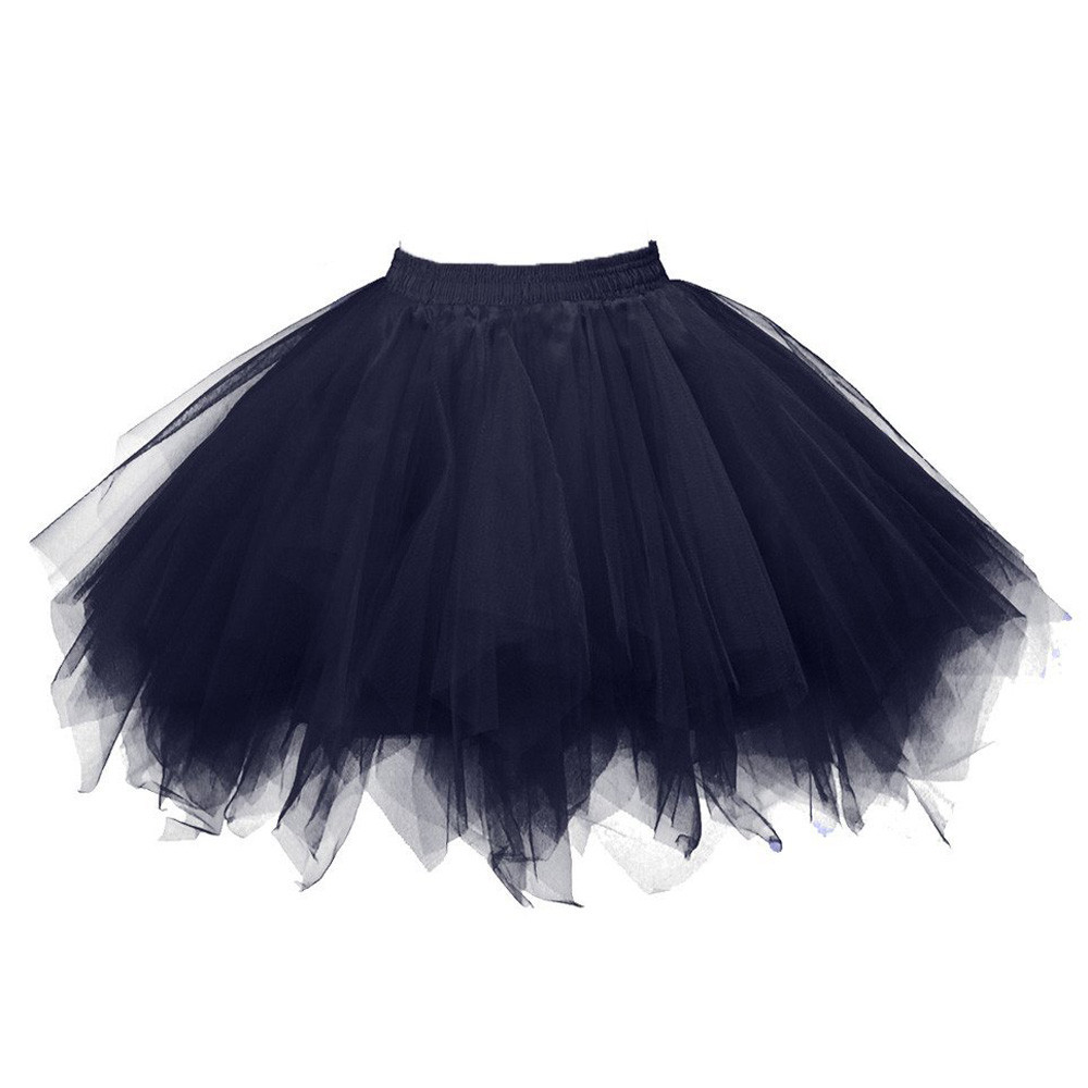 New Womens Jupe Tulle Femme High Quality Pleated Gauze Short Skirt Adult Tutu Dancing Skirt Dropship *25