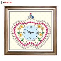 Huacan DIY Diamond Painting Clock Handmade Gifts Diamond Embroidery Special Shape Rhinestone Mosaic Cross Stitch Kits