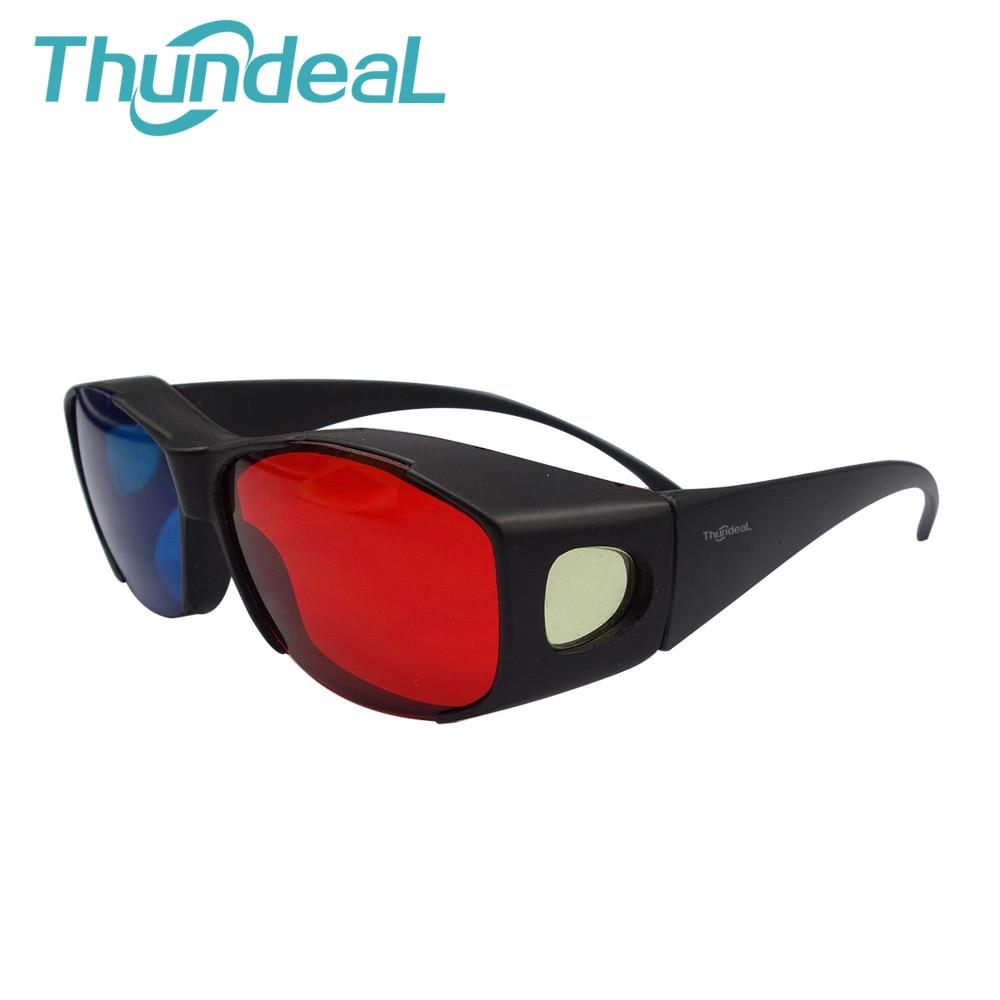 6Pcs Projector Accessories 3D Red Blue Glasses Plasma 3D Gla