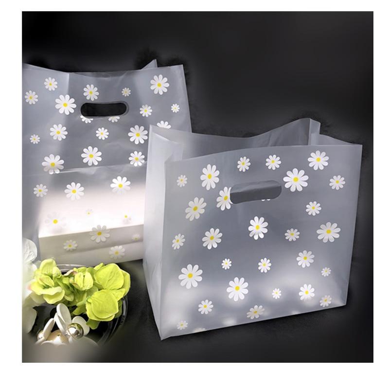 600 pièces belle Floral cadeau sac à emporter alimentaire emballage sacs étanche Transparent Sushi salade à emporter sac à main pain emballage sacs