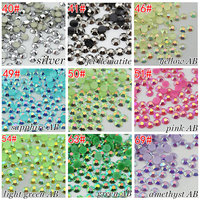 Free Shipping 10000 Pieces Bag Candy AB 3mm Flatback Trimming Resin Motif Rhinestone Sticker