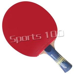 Image 2 - Raqueta Pro Combo YINHE W6, hoja de tenis de mesa con Palio AK47, goma con esponja, color amarillo y azul Palio AK47