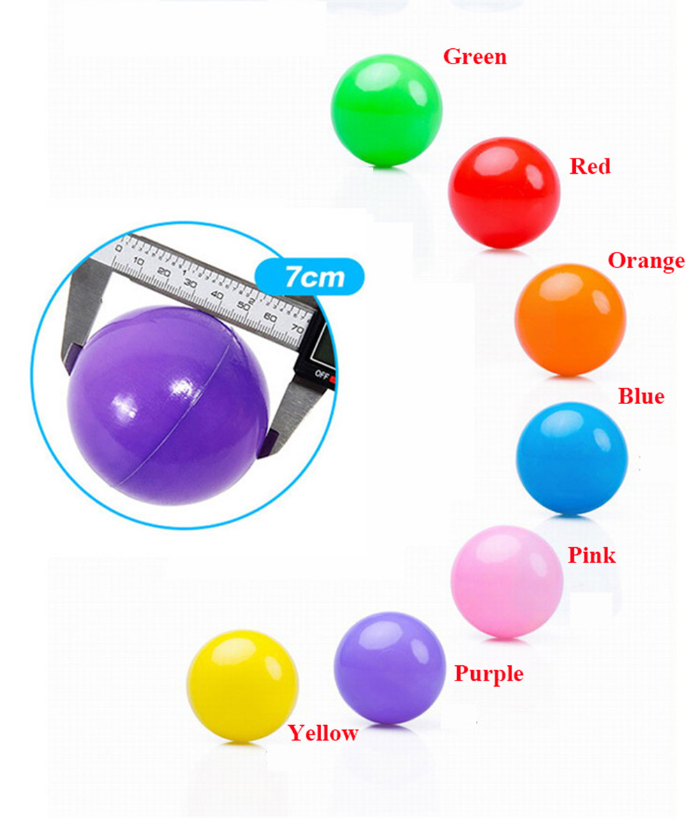 Yuanlebao 20PCS 7CM Eco-Friendly Colorful Soft Plastic Water Pool Ocean Wave Ball Baby Funny Toys Stress Air Ball Sports kids