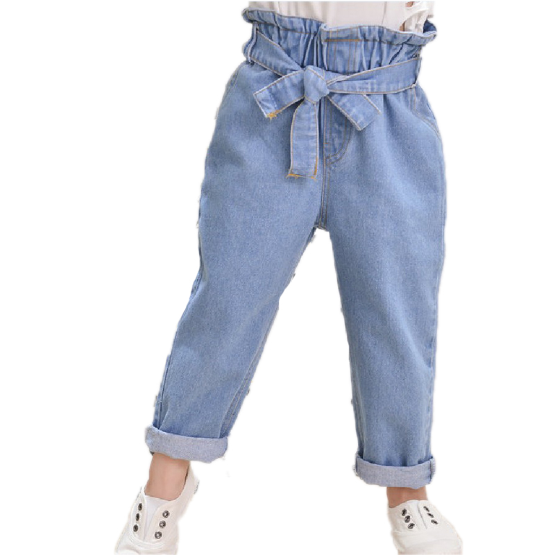Autumn High Waist Baby Girl Jeans With Blets Girl Denim Pant Leggings Cotton Jeans Trousers forGirls Pants Casual Kids Trousers pop relax negative ion magnetic therapy tourmaline mat pr c06a 55x120cm ce page 9