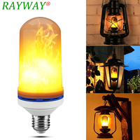 RAYWAY Led Simulation Flame Light Fire Flicker Effect Bulb 7W E27 Flame Flickering Emulation Bulbs Atmosphere