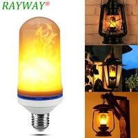 Rayway ledシミュレーション炎光火災フリッカー効果電球7ワットe27炎ちらつきエミュレーション電球雰囲気用クリスマス
