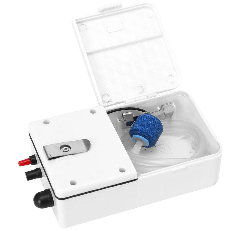Аквариум Батарея Управляется Fish Tank воздушный насос аэратор кислорода с воздуха Камень 2 Вт танк-де-409 Peces де Acuario аквариум интимные аксессуар…