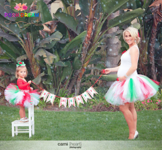Christmas Tutu Outfits.Us 9 99 Posh Dream Mommy And Me Matching Christmas Tutu Set Red Green Mommy Daughter Christmas Tutus Outfit Holiday Party Skirt In Matching Family