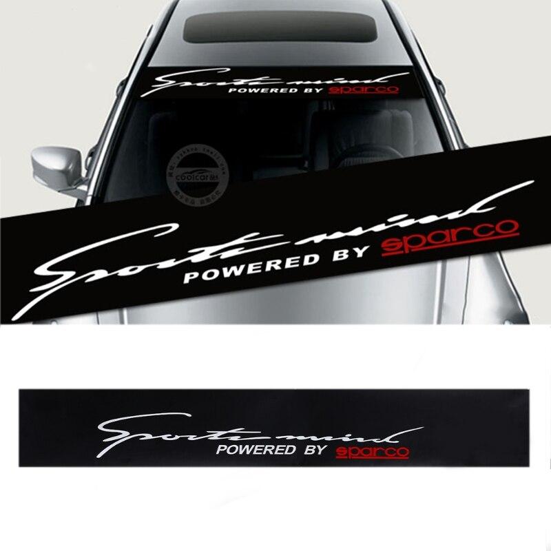 Front Rear Windshield Decal Auto Car Styling Window Sticker Black 130x21cm
