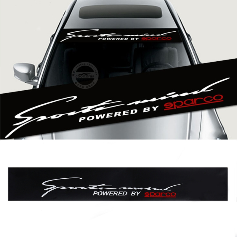 Car Front Reflective Windshield Vinyl Decal Window Banner for TF Racing Sticker