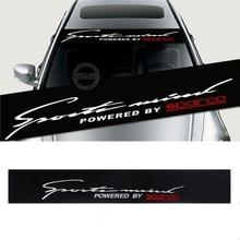 Przednia szyba przednia naklejka Auto Car Styling Window naklejka czarna 130x21cm na naklejki samochodowe