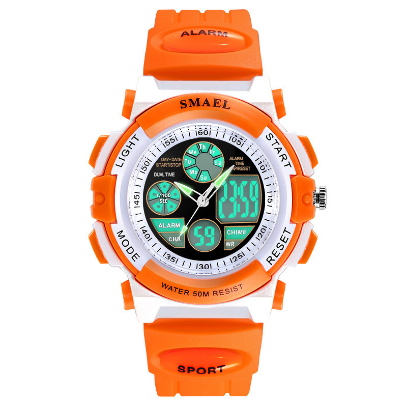 Fashion Smael Top Brand Children Watches For Girls Digital Lcd 50m Waterproof Wristwatches Led Student Gift