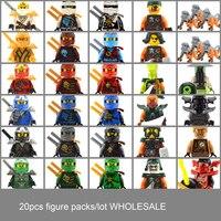 WHOLESALE Lot Single 20 50pcs Samurai VXL Ninjas Figs Figures Ninjagos Mini Figure Brick Block Christmas