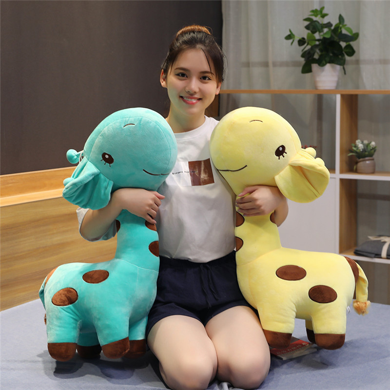 1pc Big Kawaii Giraffe Plush Toys Soft Stuffed Cartoon Animal Deer Dolls Sofa Decoration Baby Kids Birthday Christmas Gifts