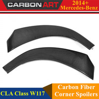 Mercedes CLA W117 2014 2015 Front Bumper Corner Car Canards Splitter Cup Flaps For CLA180 CLA