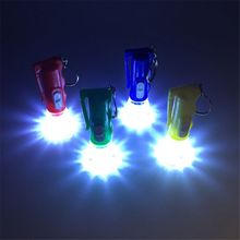 Mini Flashlight LED Light-Up Toys Keychain Party Favors Kids Toy Gift Gadgets Bag Pendant new led flashlight keychina with sound action toy figures raving rabbids keychain toys gift for child kids toys