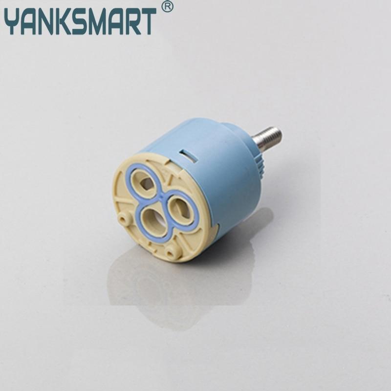Ceramic Disc Cartridge Water Inner Faucet Valve Yanksmart FX003 Blue, Beige Hot & Cold Mixer Tap Faucets Valve Cartridge 40mm ceramic disc cartridge inner faucet valve water mixer tap y05 c05